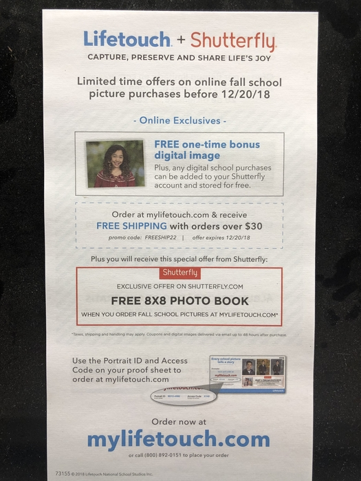 Lifetouch + Shutterfly Offer