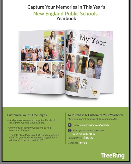 2018-2019 Yearbook information