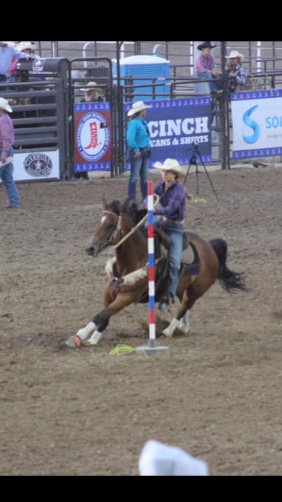 Elli Rettinger at the National High School Rodeo Finals
